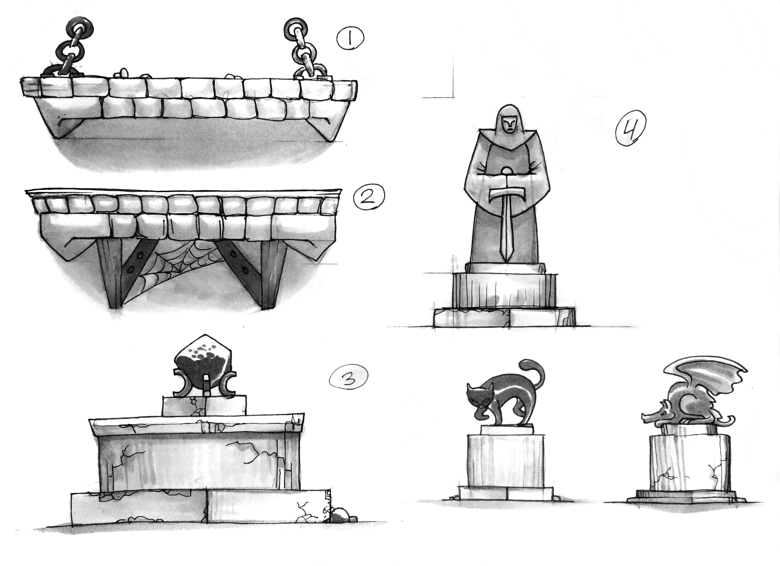 Concepts for iOS game assets. 2012